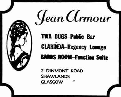 Jean Armour advert 1977