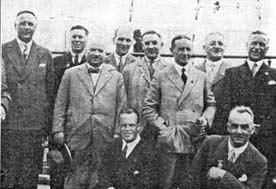 John Eadie in a group of members of the ben