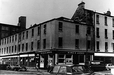 Exterior view of the King's Arms, 31 South Portland Street Gorbals.