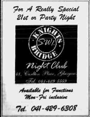 Knightsbridge SW1 advert 1988