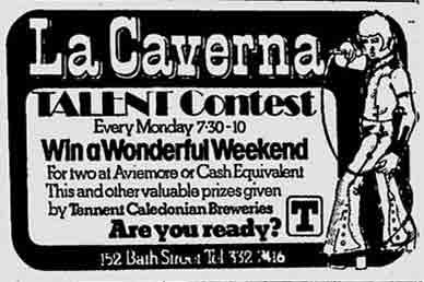 La Caverna advert 1974
