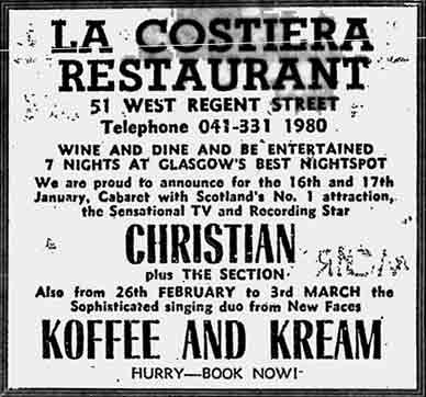 La Costiera advert 1978
