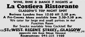 La Costiera advert 1977