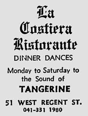La Costiera West Regent Street advert 1977