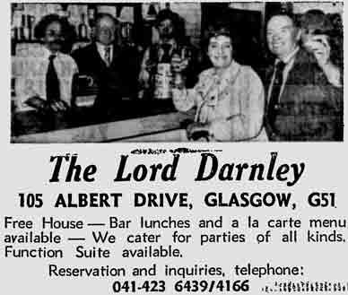 Lord Darlney advert 1979