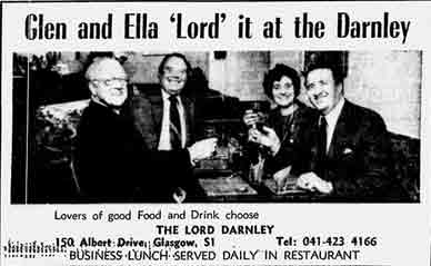 Lord Darnley advert 1977