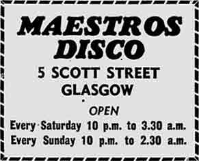 Maestros advert 1977