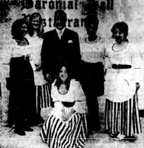Staff at the Malletsheugh Inn 1971