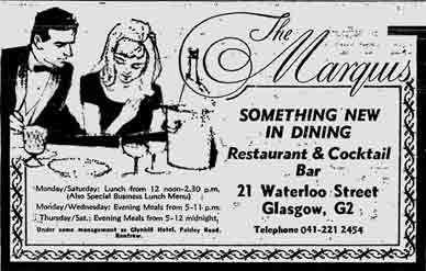 The Marquis advert 1978