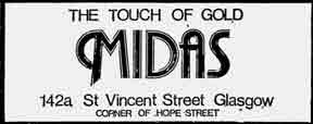 Midas St Vincent Street advert 1979