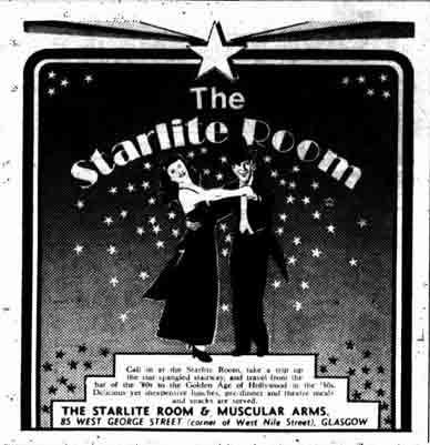 Starlight Room's advert 1970