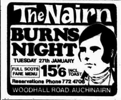 Advert for the Nairn 1970