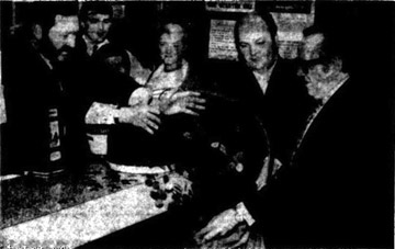 Matthew Taylor in Oak Bar Gallowgate 1970