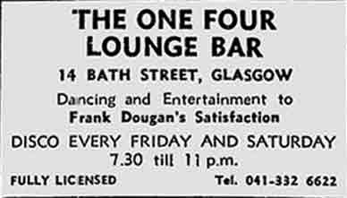 One Four Lounge Bar ad 1976