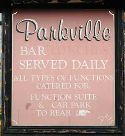 The Parkville sign