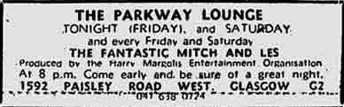 Parkway advert 1974
