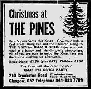 Pines advert 1974