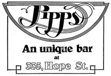 Pipps advert 335 Hope Street Glasgow