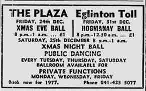 The Plaza advert 1976