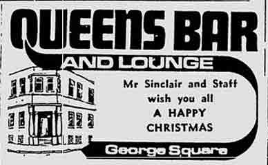 Queen's Bar advert 1976