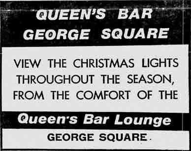 Queens Bar advert 1975