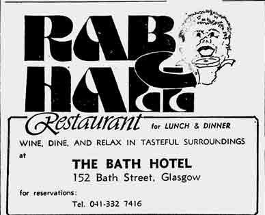 Rab Ha's advert 1977