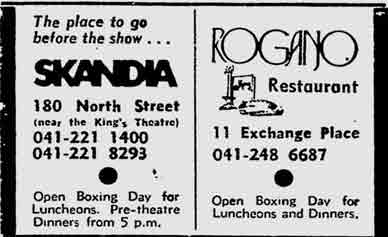 Rogano advert 1975.