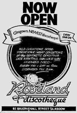 Roseland advert 1978