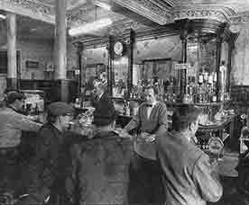 Interior view of Ruxton's Bar1971.