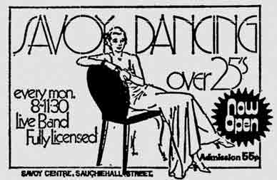 Savoy Disco advert 1975