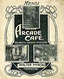 Arcade Cafe Menu