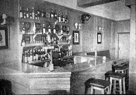 The Tartan Tavern interior view 1953