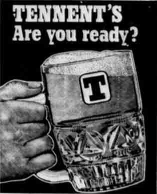 Tennent advert 1976