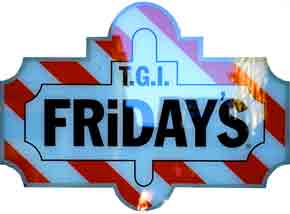 T.G.I Fraiday's sign