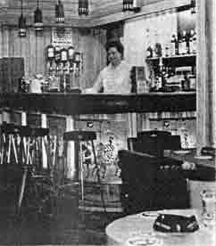 Interior view of the Tower Bar 1968