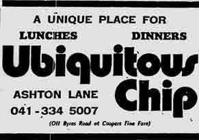 Ubiquitous Chip advert 1977