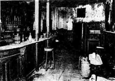 Victoria Bar interior after fire 1978