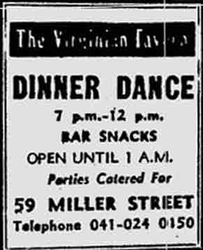 Virginian Tavern advert 1976