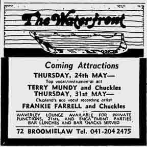 Waterfront advert from 1979