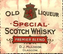 Whisky Label Muldoon's
