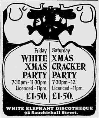 White Elephant advert 1976