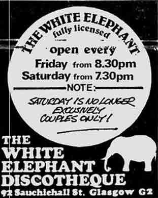 White Elephant advert 1977