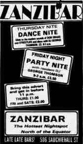 Zanzibar advert 1984